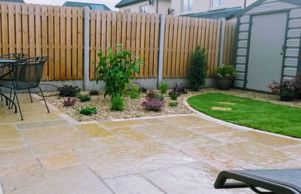 limestone patio by Gardens4U